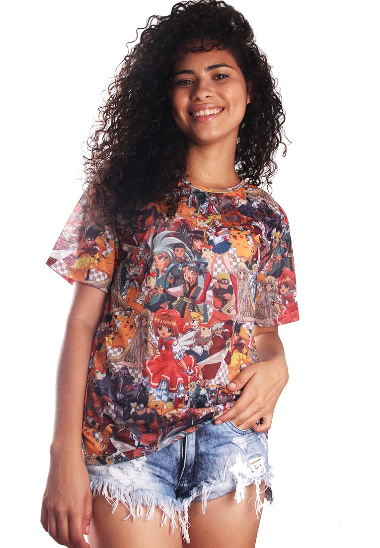 CAMISETA ESTAMPADA FULL PRINT UNISSEX GEEK ANIME LOVERS