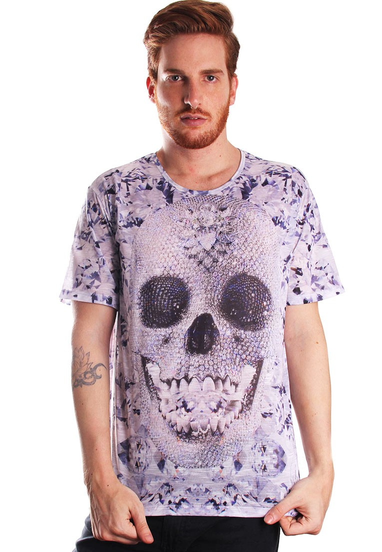 CAMISETA ESTAMPADA FULL PRINT UNISSEX DIAMONDSKULL