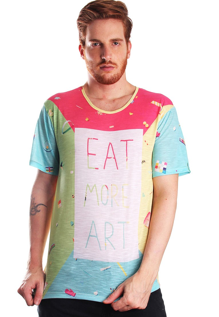 CAMISETA FULL PRINT EAT MORE ART