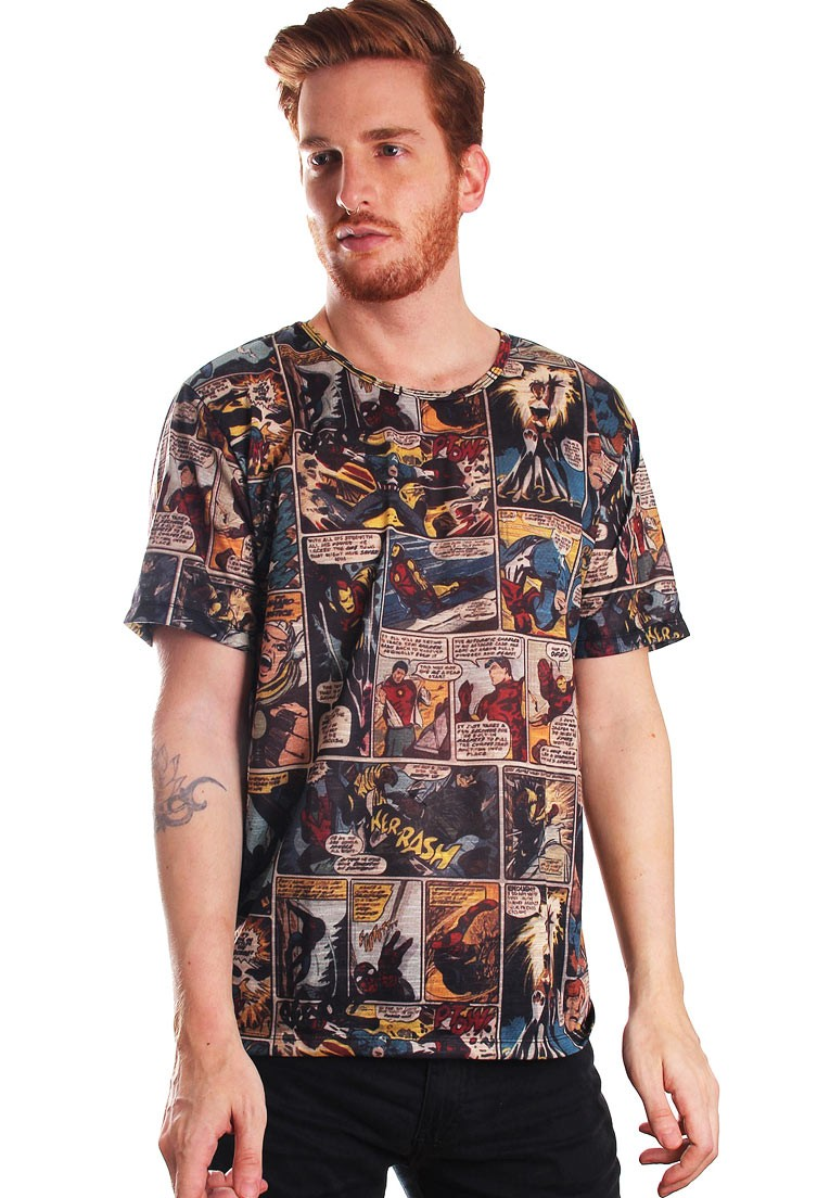 CAMISETA ESTAMPADA FULL PRINT UNISSEX GEEK MARVELOUS