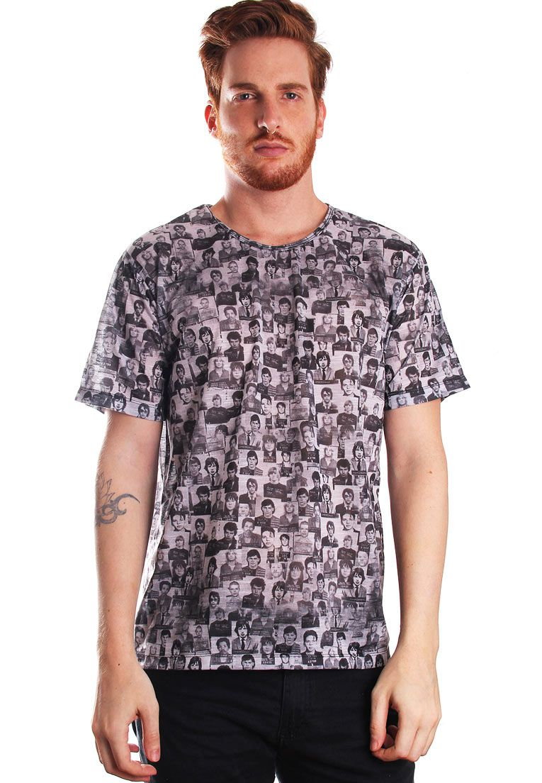 CAMISETA ESTAMPADA FULL PRINT UNISSEX ROCK MUGSHOT