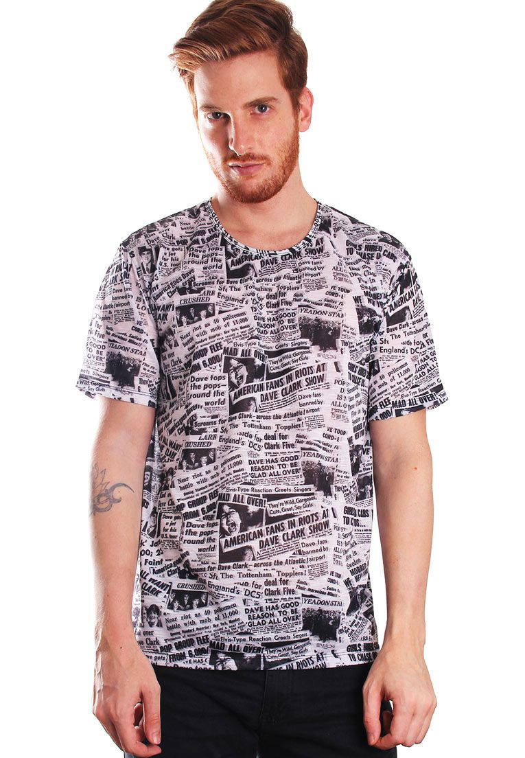 CAMISETA ESTAMPADA FULL PRINT UNISSEX NEWSPAPER