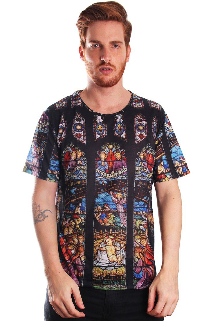 CAMISETA ESTAMPADA FULL PRINT UNISSEX PRINT VITRAL INC