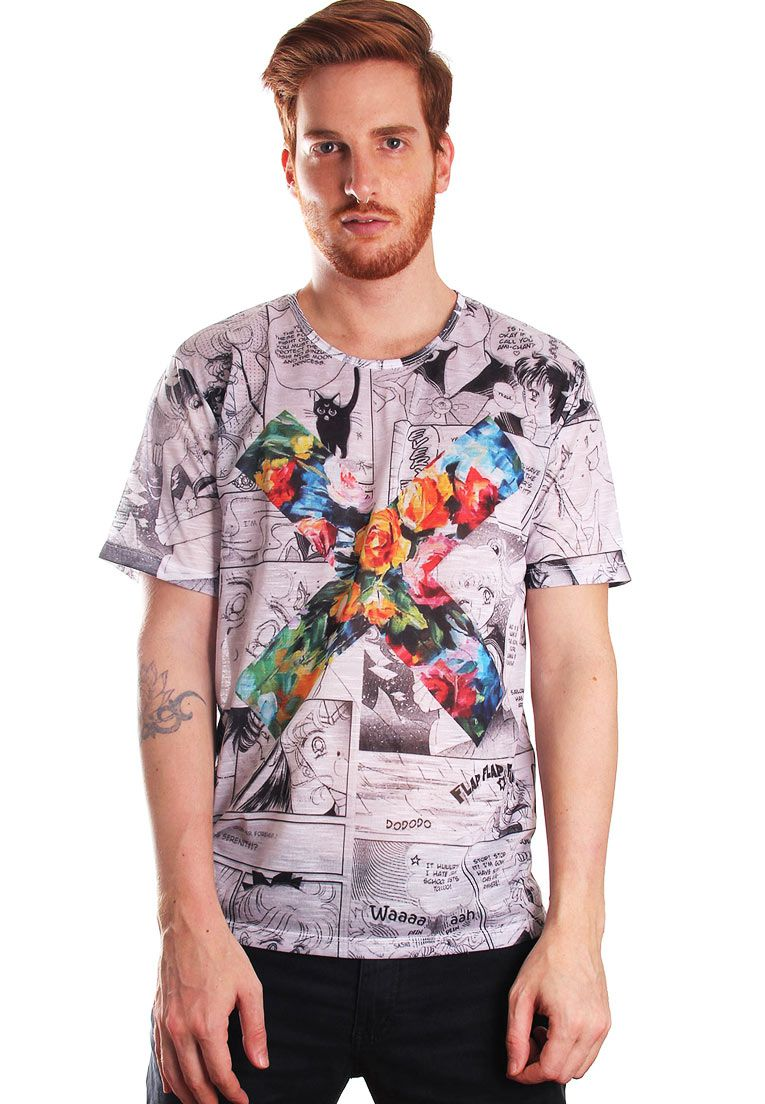 CAMISETA ESTAMPADA FULL PRINT UNISSEX GEEK XXX MOON XXX