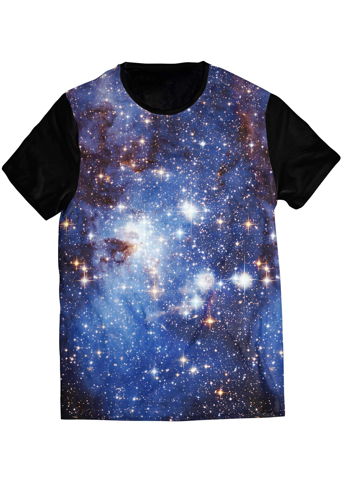 Camiseta Galaxy ElephunK Estampada Estrelas Universo Preta