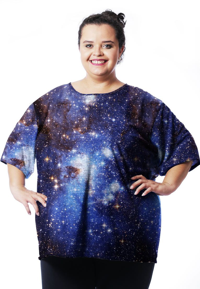 CAMISETA GALAXY ESTAMPADA FULL PRINT UNISSEX UNIVERSO TUMBLR