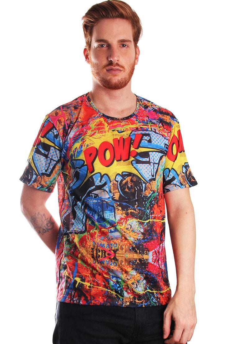 Camiseta Pop Art Popart Estampada Full Print Unissex Pow! BF3