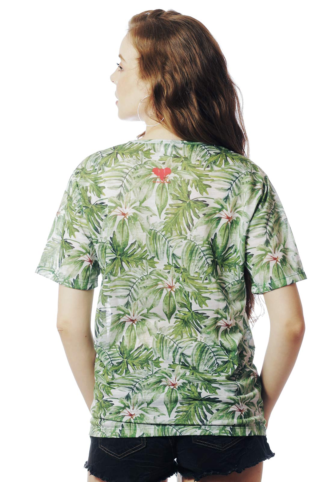 CAMISETA TROPICAL FUN ESTAMPADA FULL PRINT UNISSEX VERDE