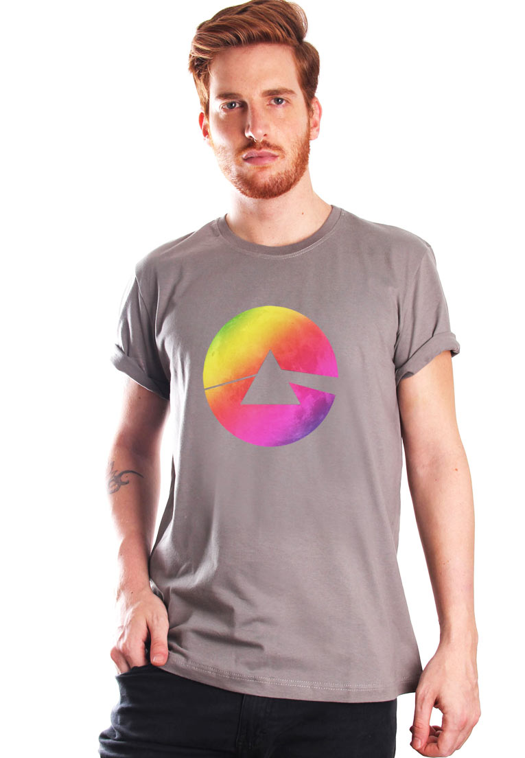 COLORFUL SIDE OF THE MOON CAMISETA ALGODÃO