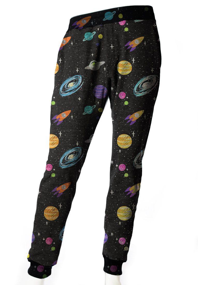 Conjunto Galaxy Estampado Blusa + Calça Moletom Unissex Universal