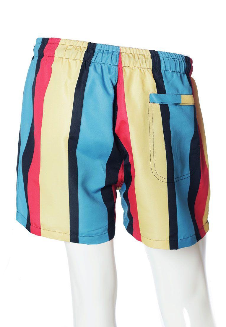 Conjunto Listrado Estampado Camiseta + Shorts Unissex Barcelona