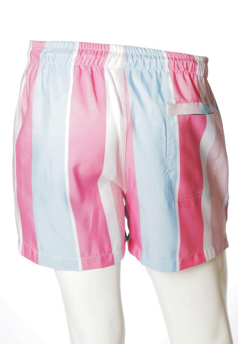 Conjunto Listrado Estampado Camiseta + Shorts Unissex Mykonos