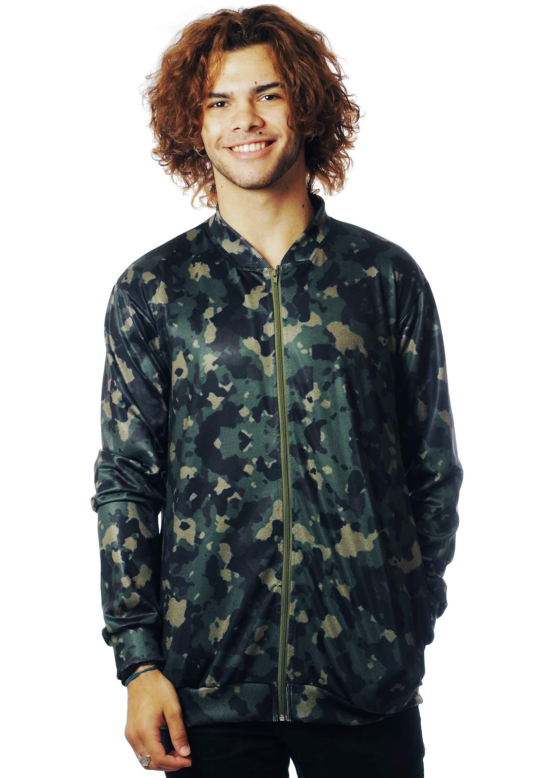 JAQUETA BOMBER CAMUFLADA ESTAMPADA FULL PRINT UNISSEX WRONG BITCH