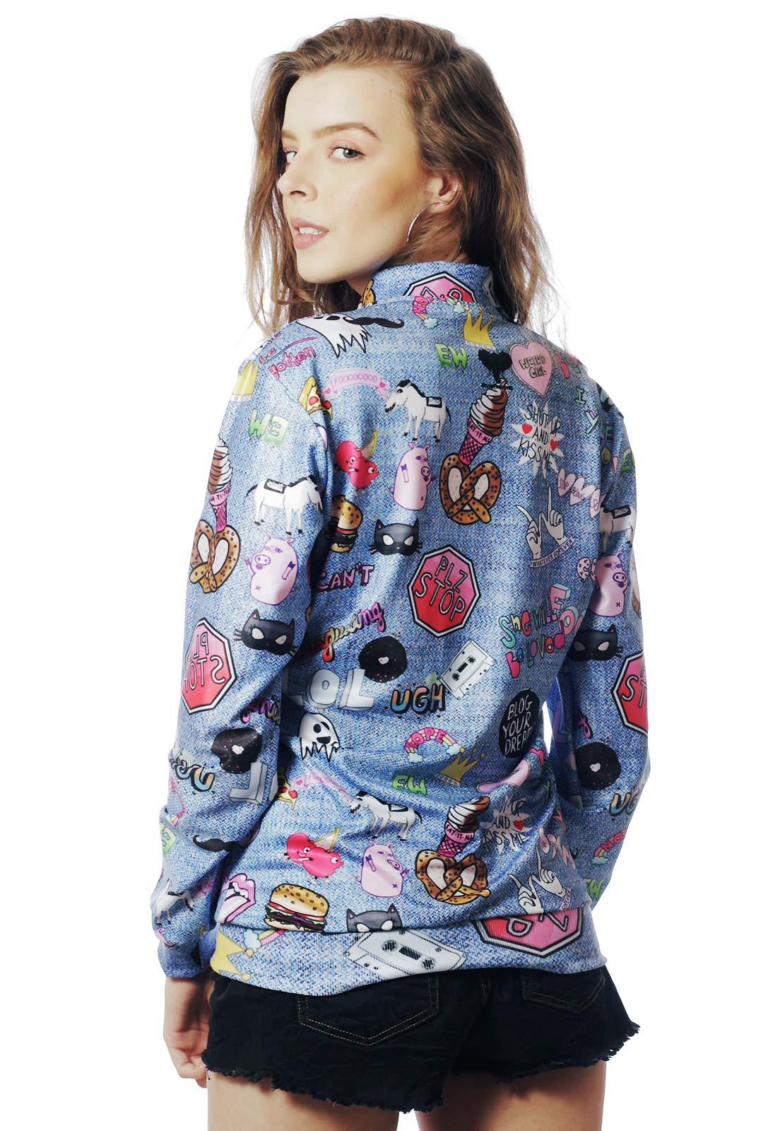 Jaqueta Bomber Estampada Tumblr ElephunK Full Print  Unissex Lol Jeans