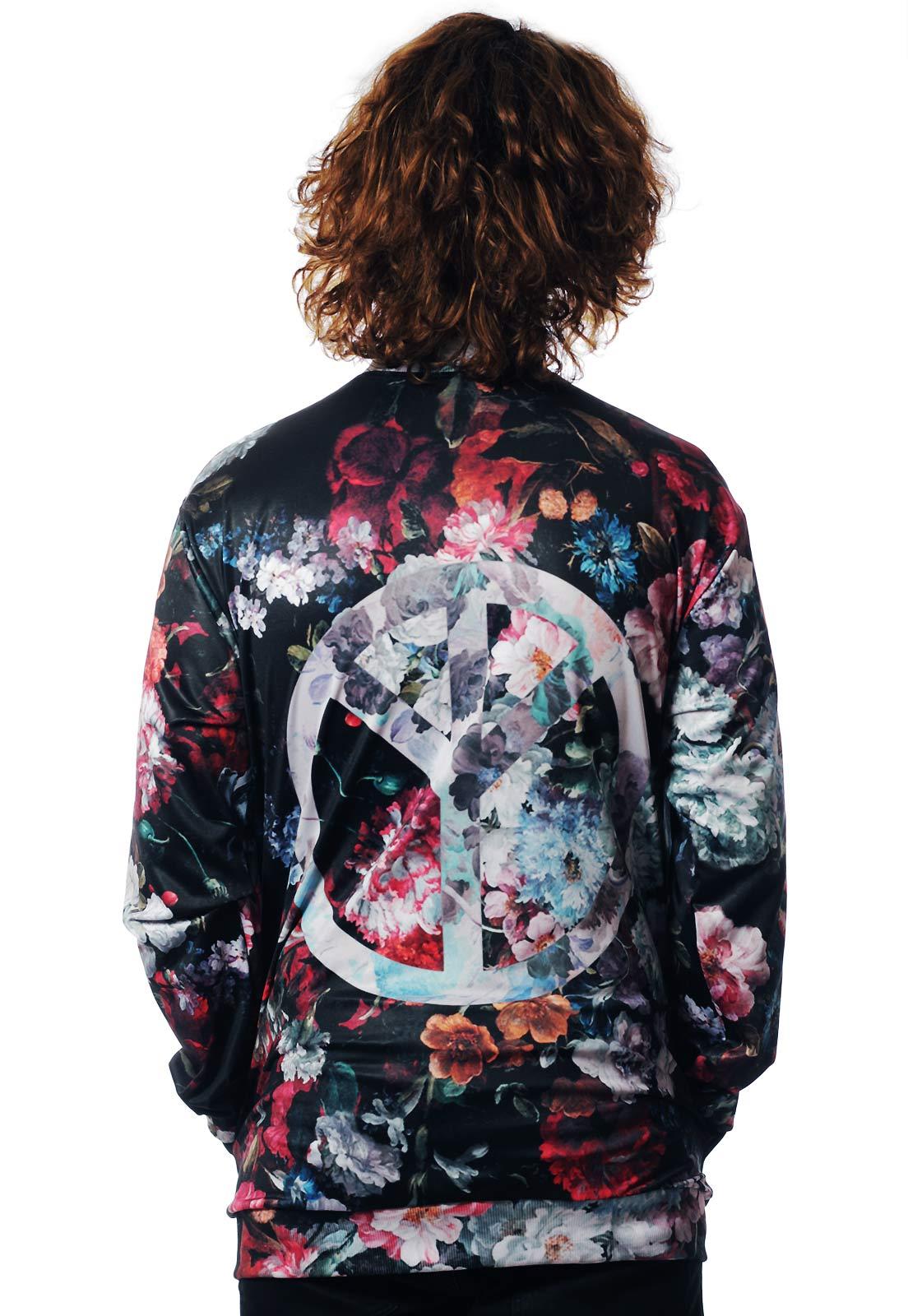 Jaqueta Bomber Floral Estampada ElephunK Full Print Unissex Peace