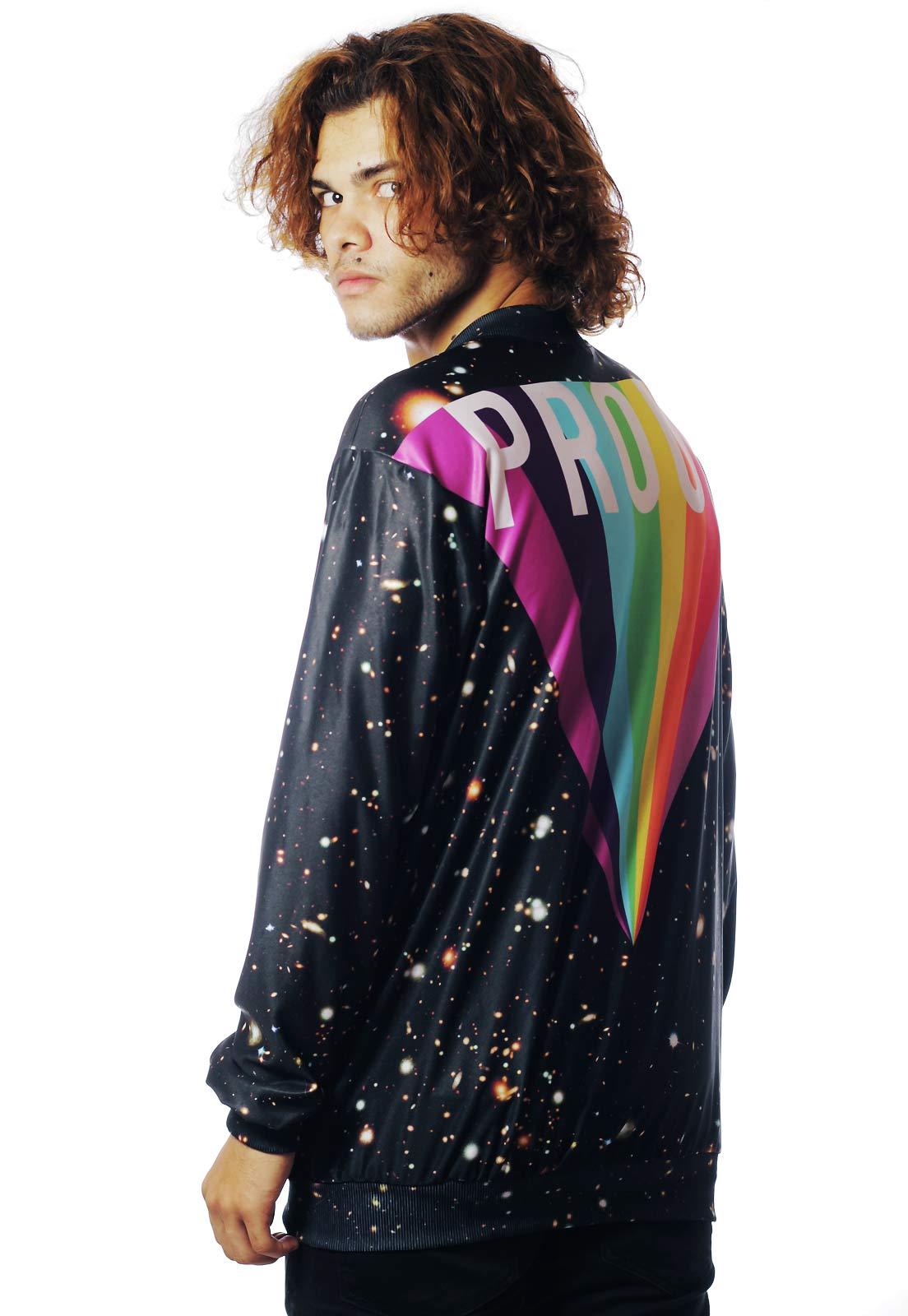 Jaqueta Bomber Galaxy Estampada ElephunK Full Print Unissex Gay Proud