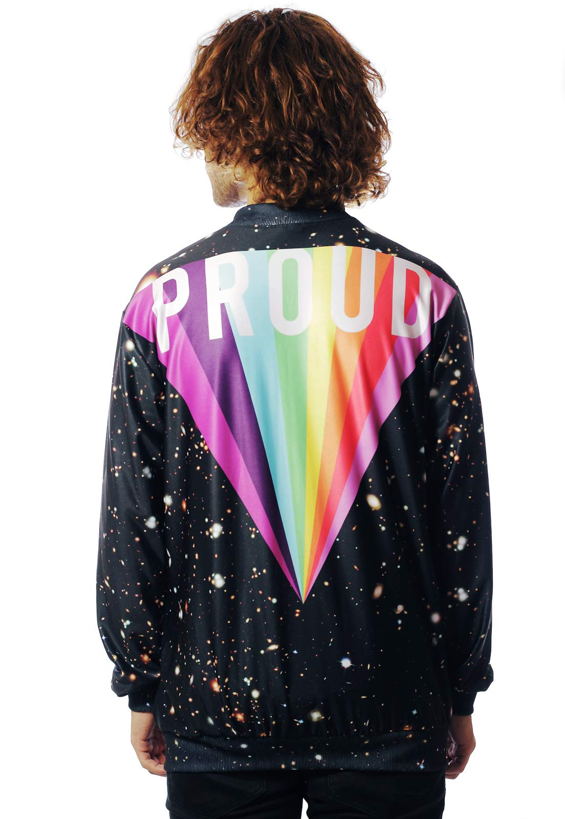 Jaqueta Bomber Galaxy Estampada ElephunK Full Print Unissex Gay Proud