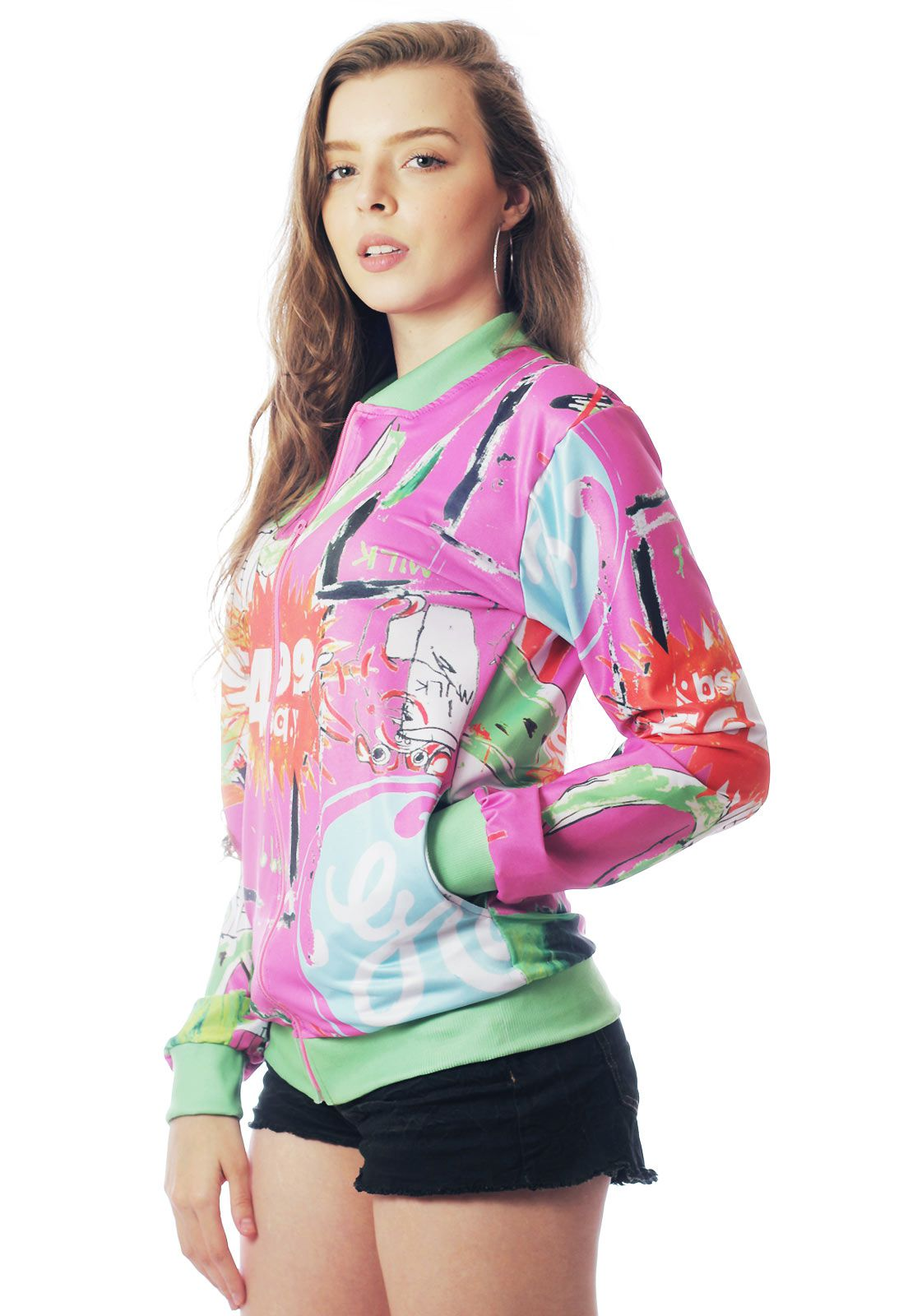 JAQUETA BOMBER NEON ESTAMPADA FULL PRINT UNISSEX NEW YORK 02
