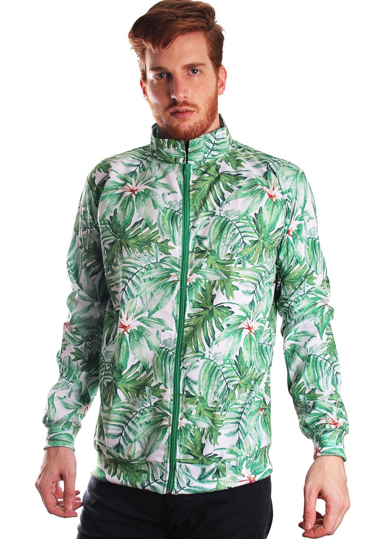 JAQUETA BOMBER ESTAMPADA FULL PRINT UNISSEX TROPICAL FUN