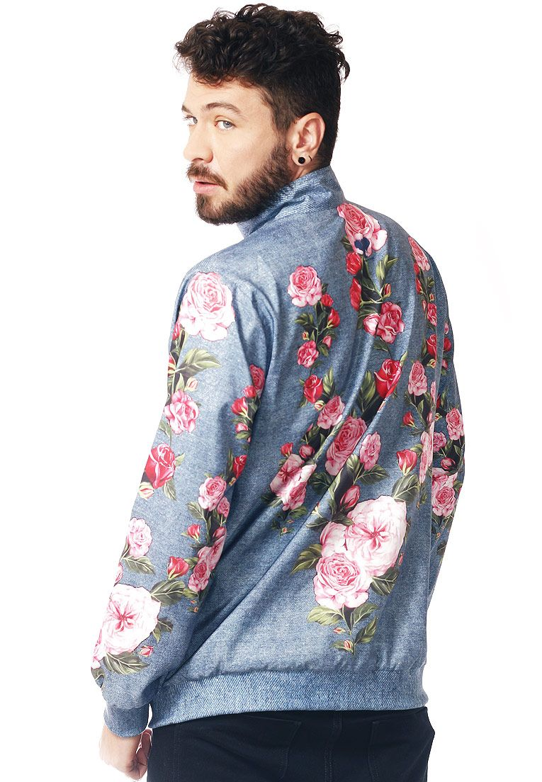 JAQUETA BOMBER FLORAL ESTAMPADA FULL PRINT UNISSEX FASHION