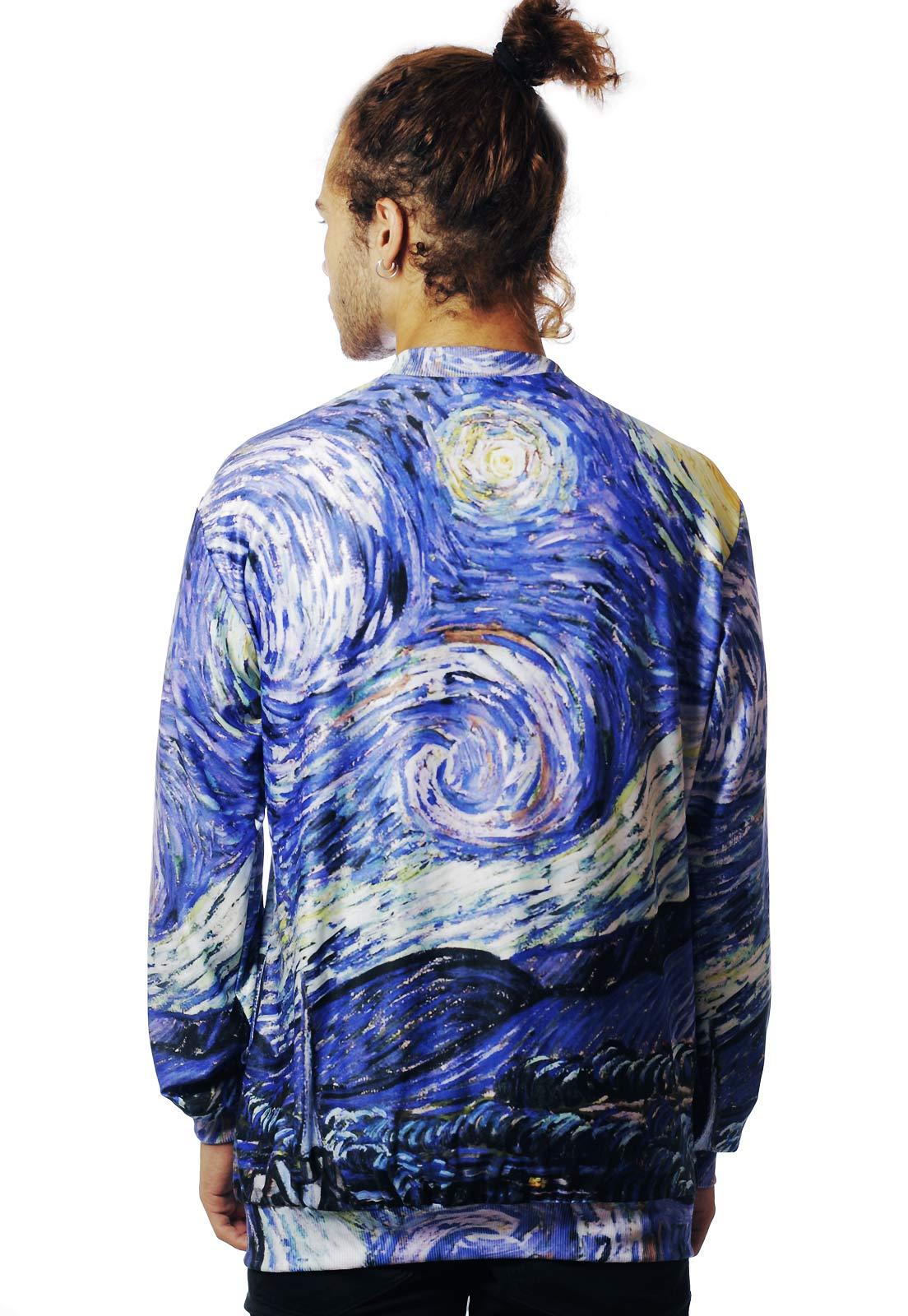 Jaqueta Van Gogh Bomber Estampada ElephunK Full Print Unissex Noite Estrelada