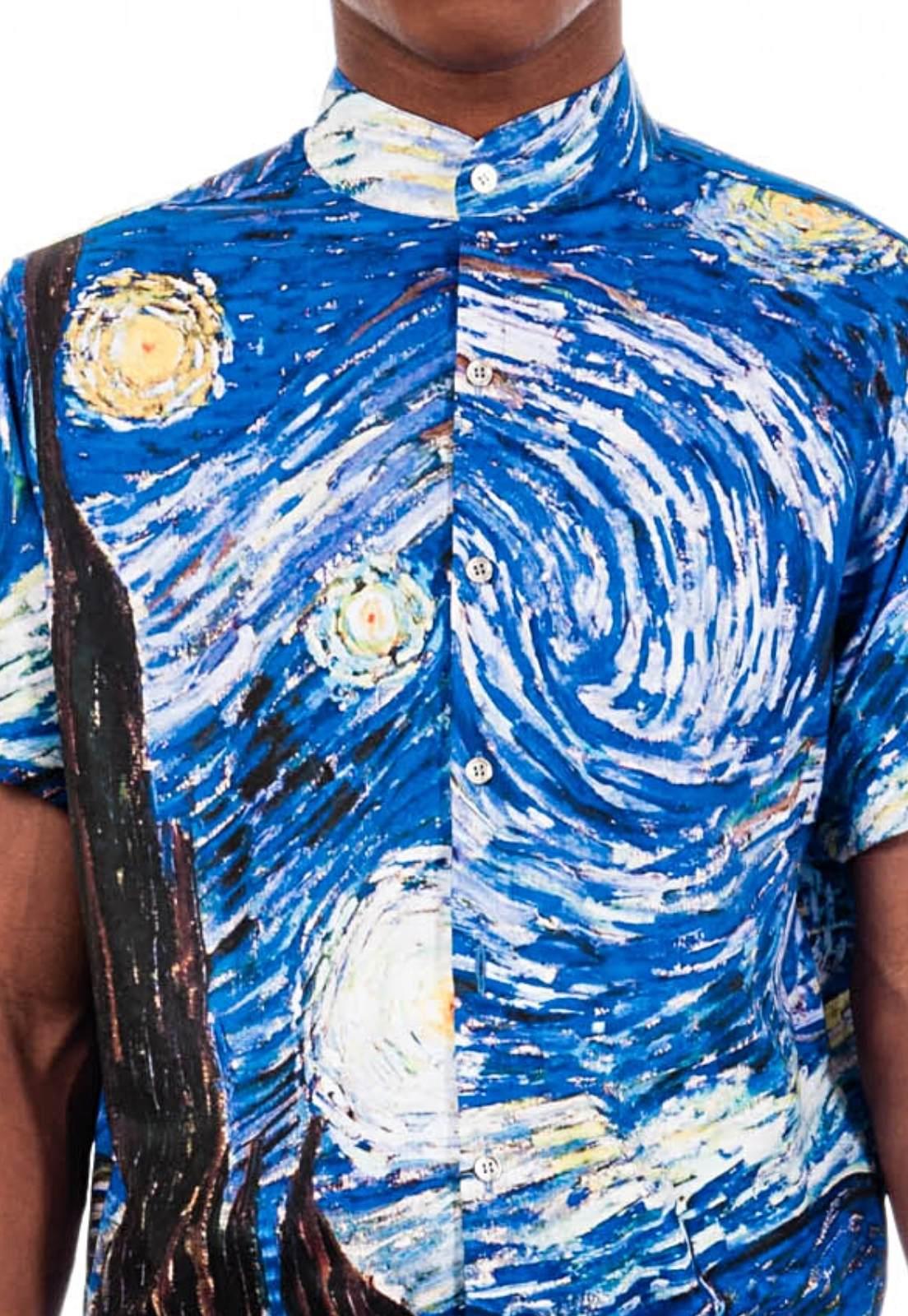 Macaquinho Estampado Van Gogh Sem Gênero ElephunK Azul
