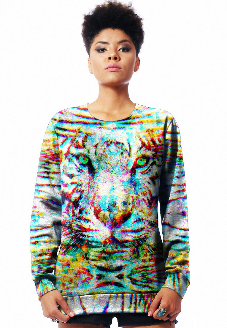 MOLETOM ESTAMPADO FULL PRINT UNISSEX ANIMAL PRINT ROUPAS TUMBLR