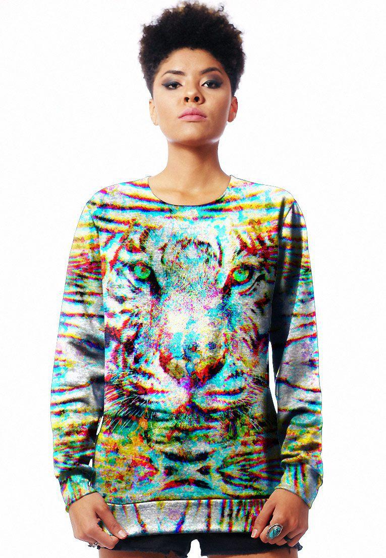 Blusa Moletom Estampado Full Print Unissex Animal Print Roupas Tumblr