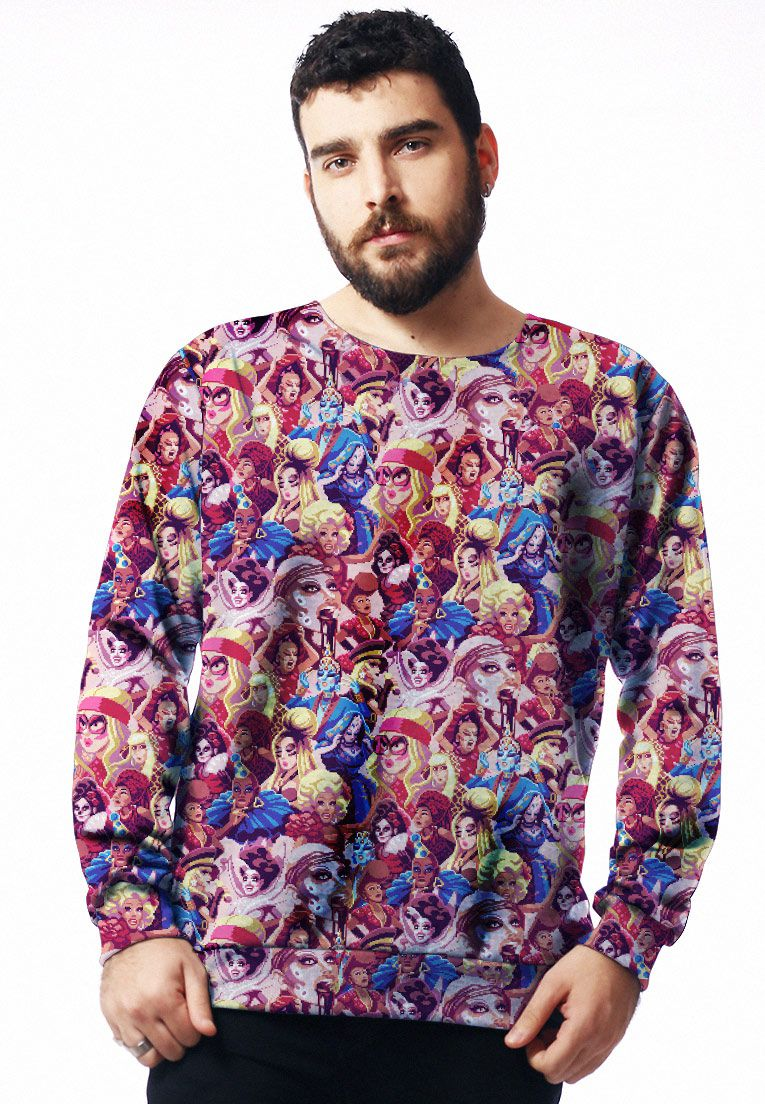 MOLETOM ESTAMPADO FULL PRINT UNISSEX WINNERS ROUPAS TUMBLR