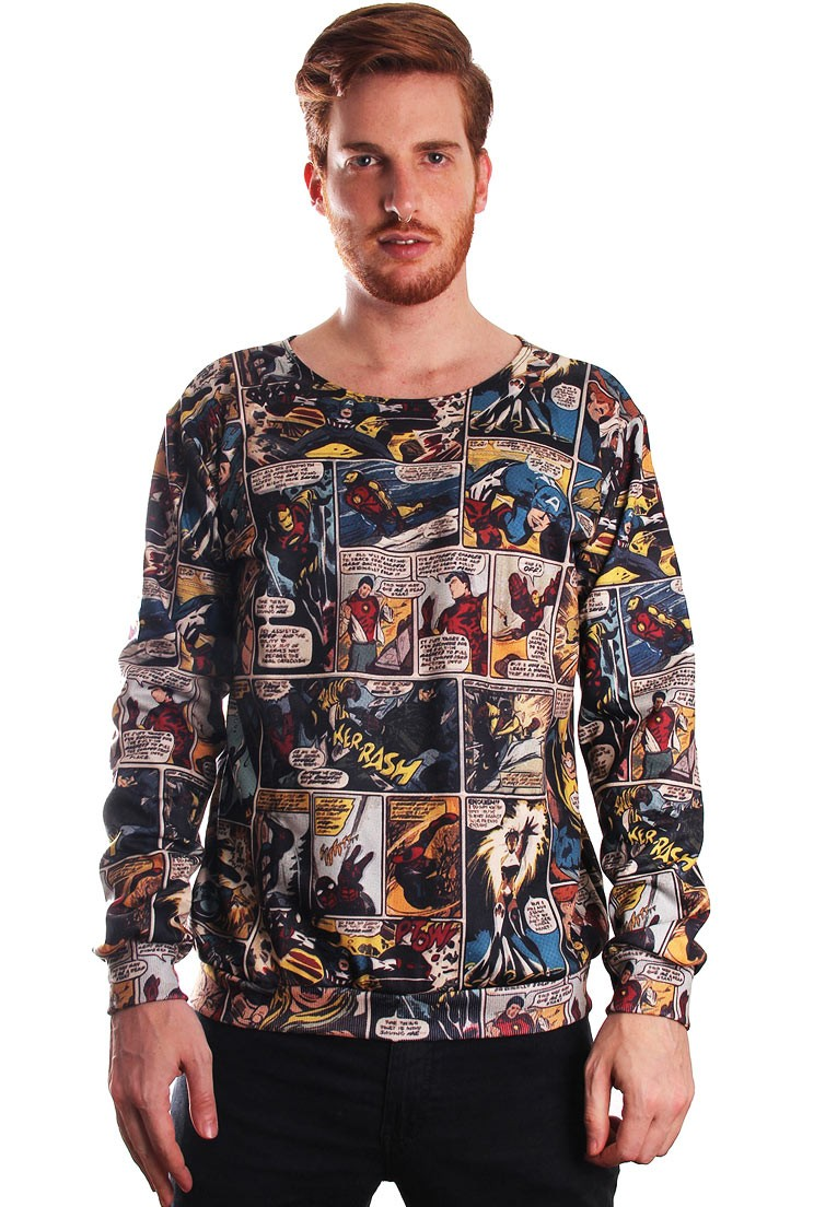 MOLETOM ESTAMPADO FULL PRINT UNISSEX GEEK MARVELOUS