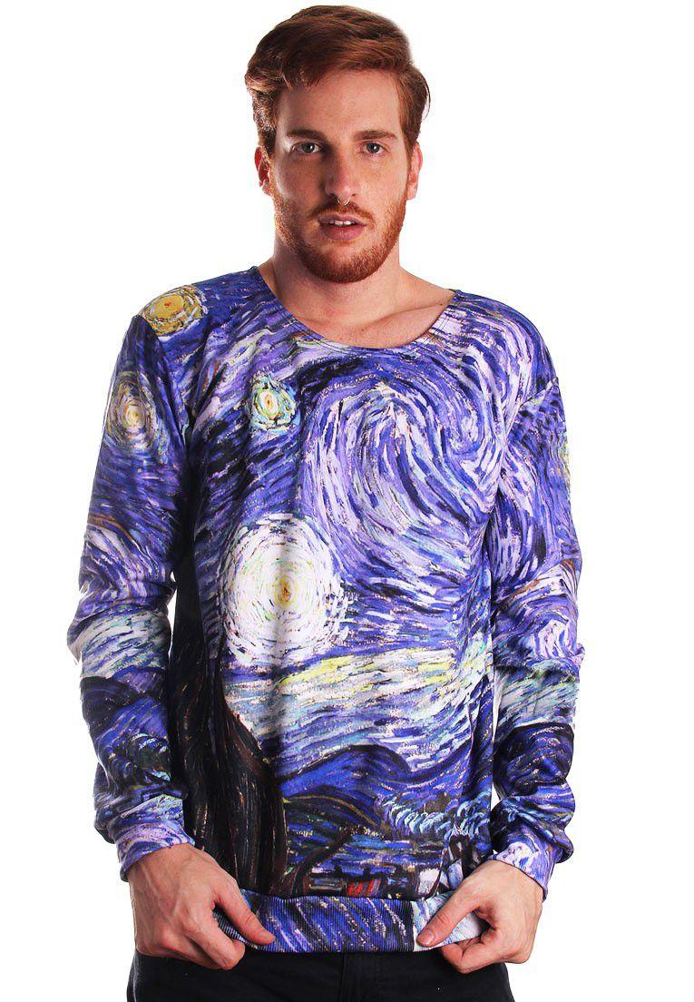 Blusa Moletom Van Gogh Estampado Full Print Unissex