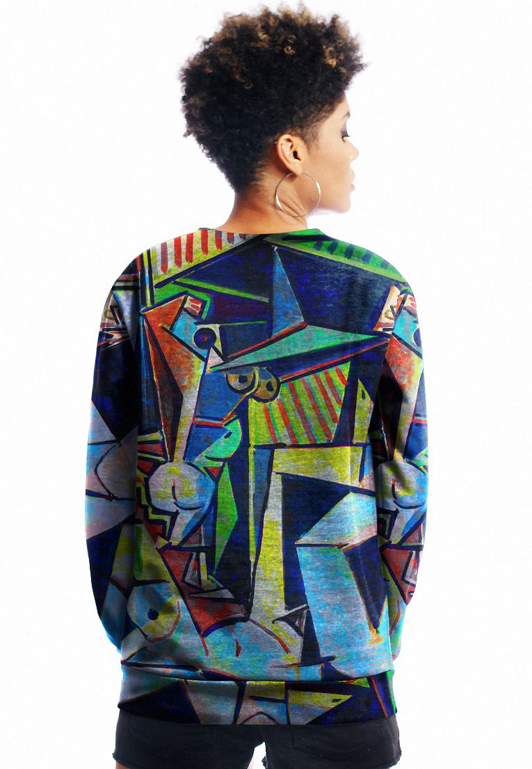 Blusa Moletom Picasso Estampado Full Print Unissex