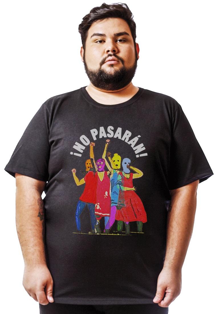 NO PASSARÁN! CAMISETA ALGODÃO