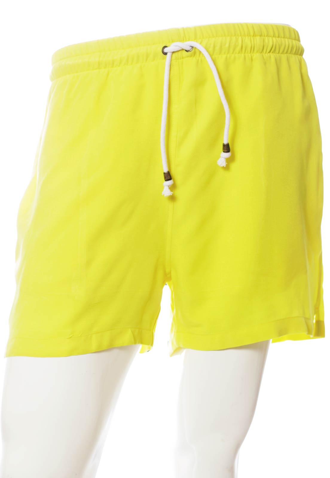 Shorts Color Blocking Clubber Pop Balada Novela Unissex Amarelo