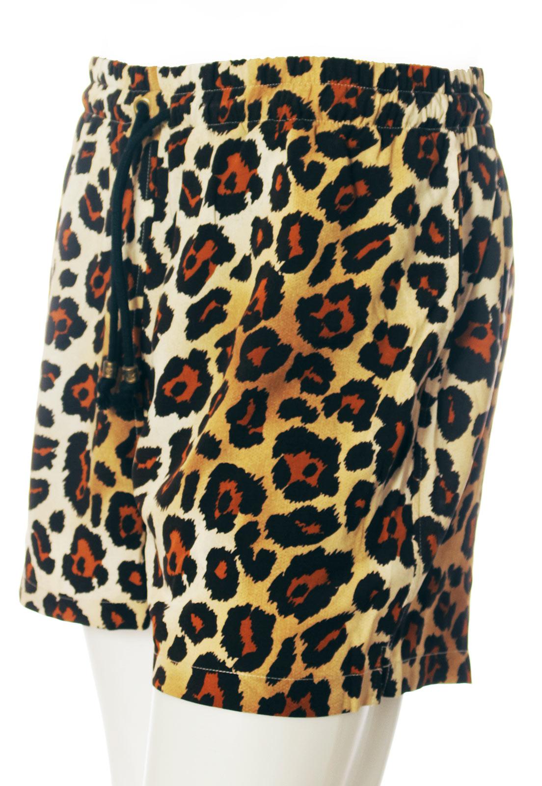 Shorts Estampado Animal Print Clássica ElephunK Sem Gênero Marrom