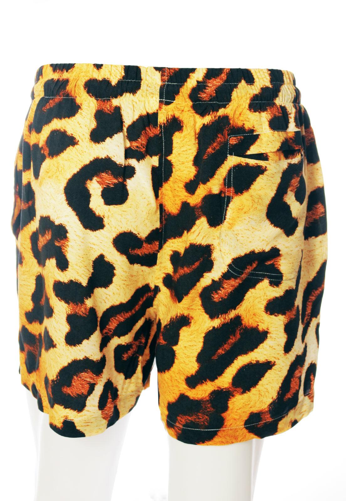 Shorts Estampado Animal Print Power ElephunK Sem Gênero Onça Amarela
