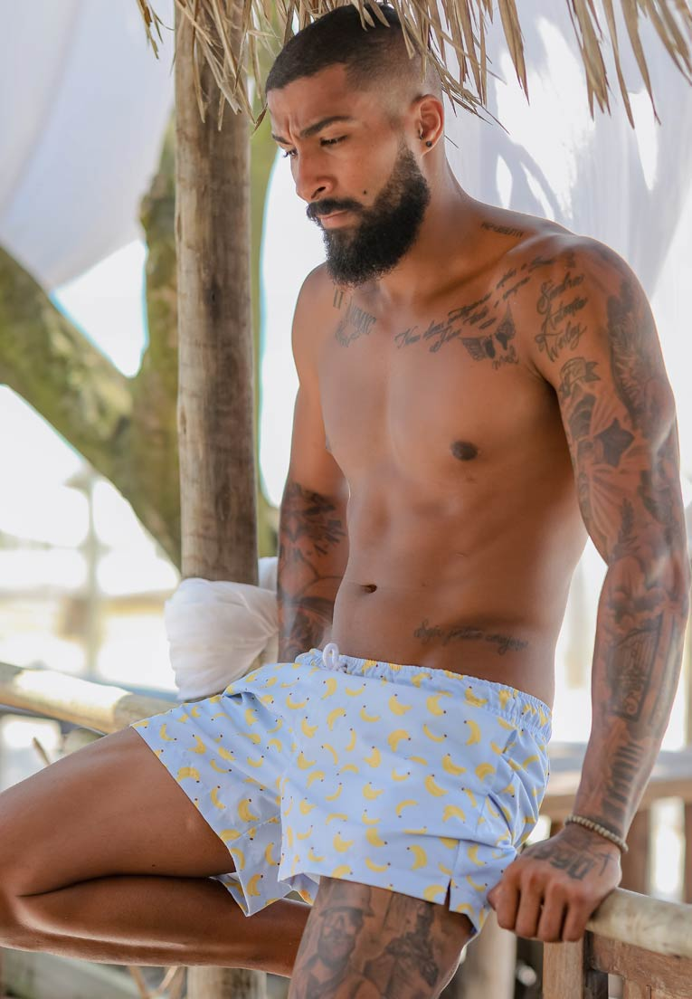 SHORTS ESTAMPADO BANANINHAS FULL PRINT UNISSEX