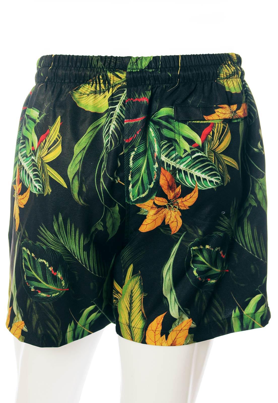 Shorts Estampado Floral Sem Gênero Selva Amazônica Verde