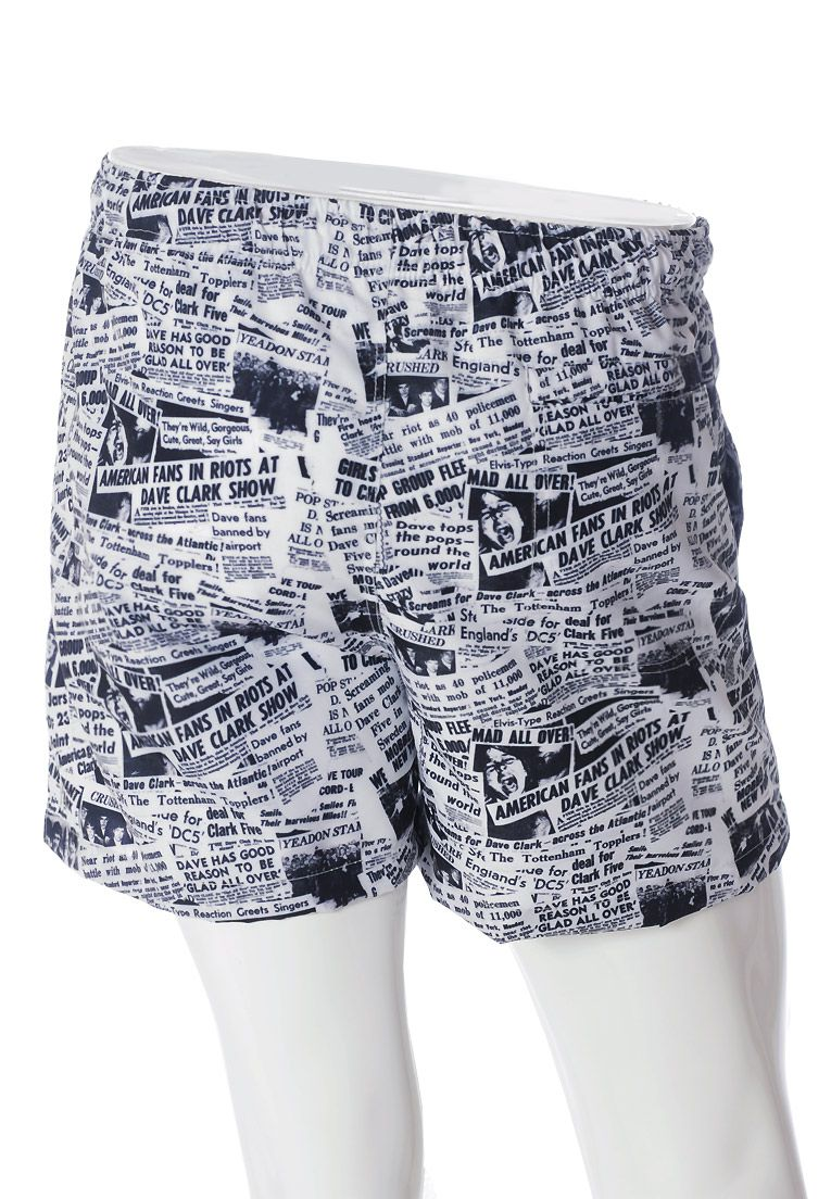 SHORTS ESTAMPADO NEWSPAPER FULL PRINT UNISSEX