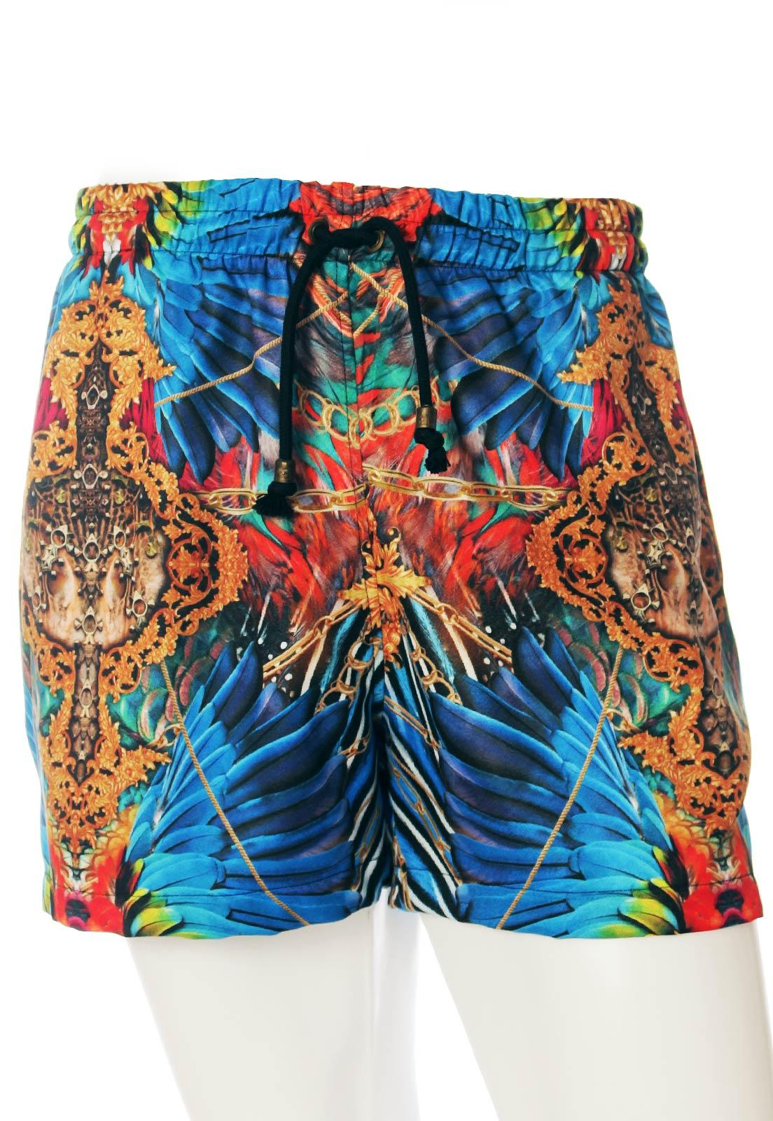 Shorts Estampado Sem Gênero Araracanga Azul