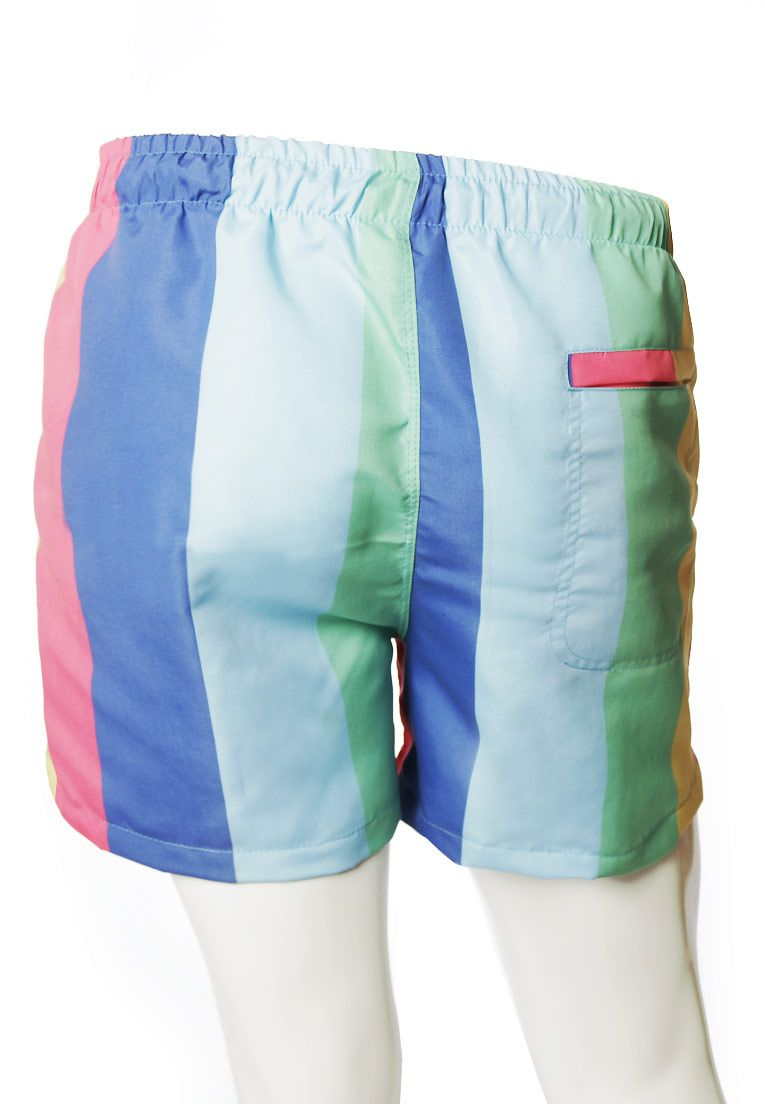 SHORTS GAY ESTAMPADO SLAY ARCO-ÍRIS UNISSEX