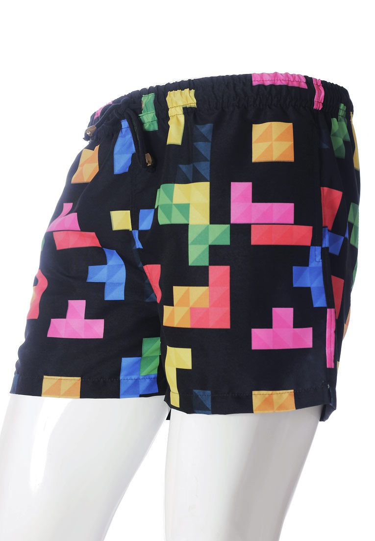 SHORTS ESTAMPADO TETRIS GEEK FULL PRINT UNISSEX