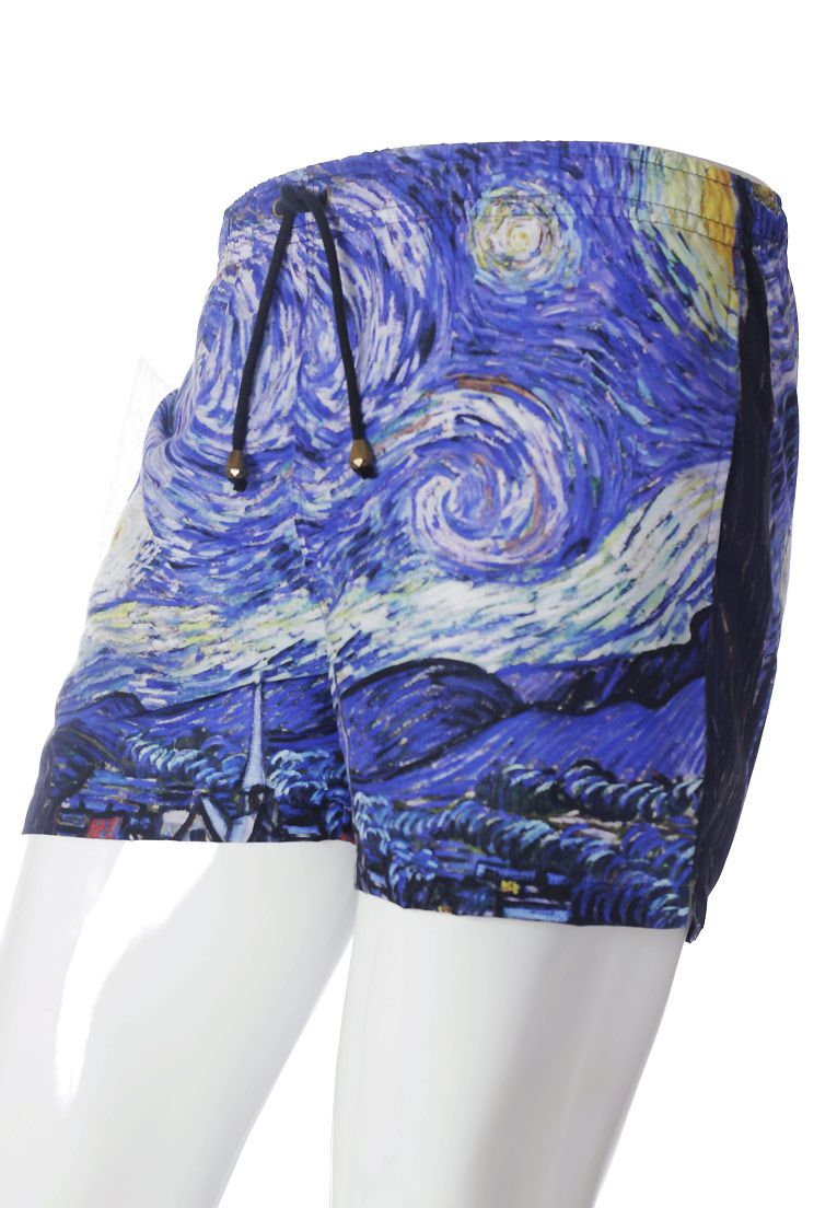 SHORTS VAN GOGH ESTAMPADO FULL PRINT UNISSEX