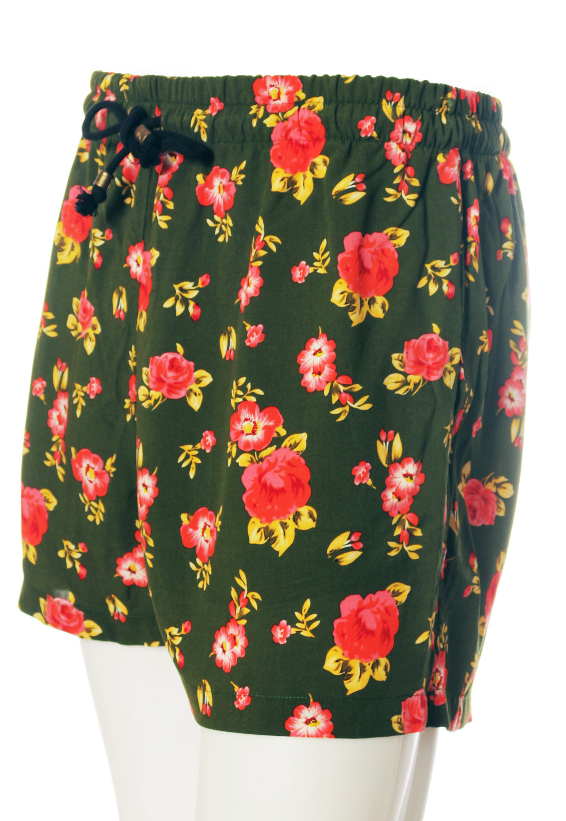 Shorts Floral Estampado Lácio Roma ElephunK Sem Gênero Verde