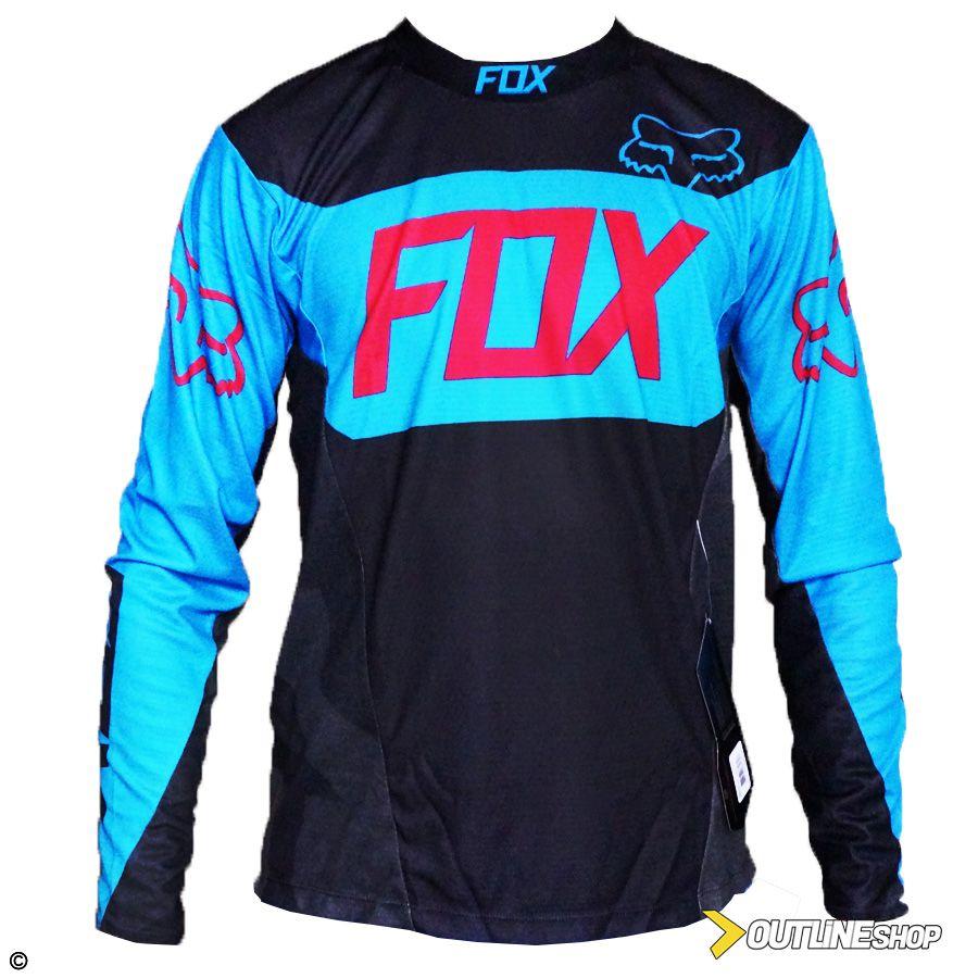 Camisa Fox Demo Device LS   Black / Blue