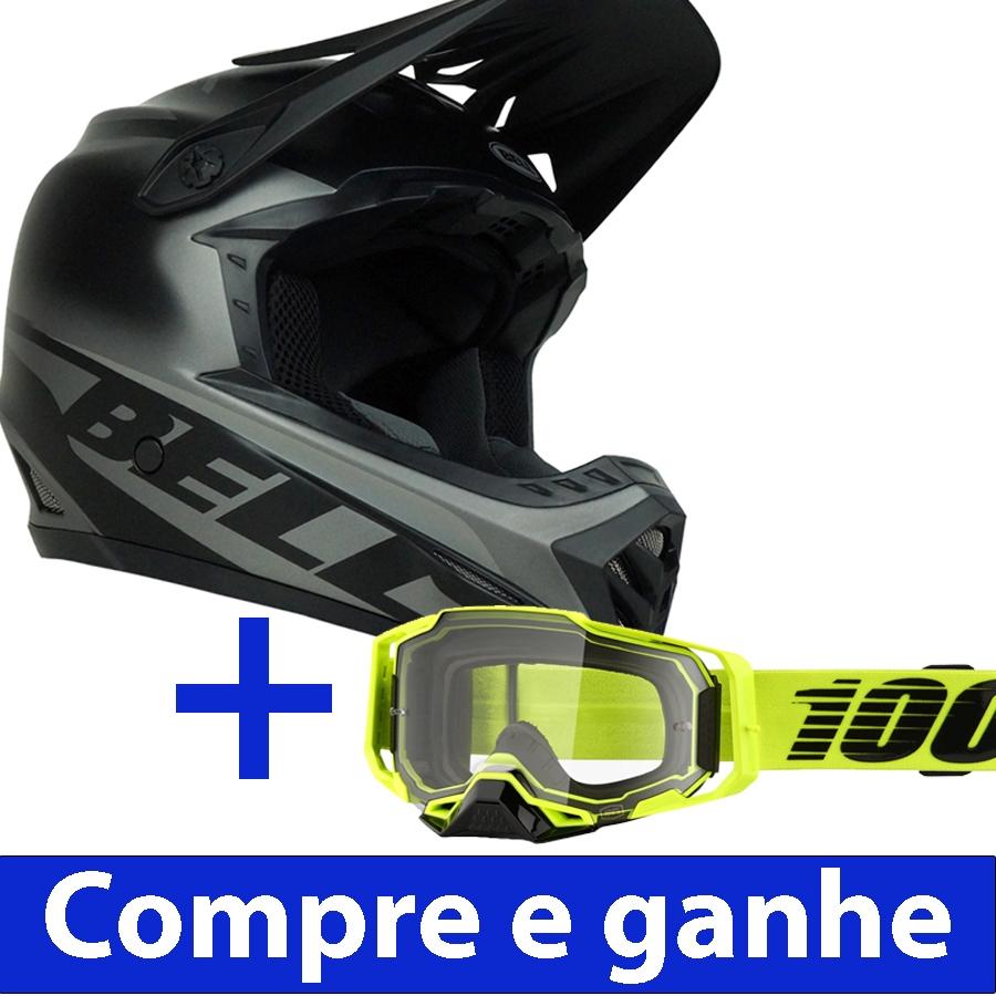 Capacete Downhill Bell Full-9 Fusion  + Brinde Óculos 100% Armega