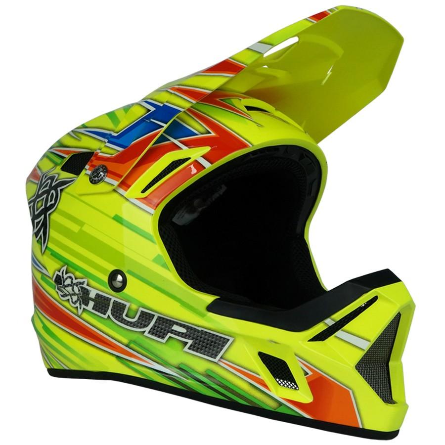 Capacete Downhill Hupi DH-3 | Amarelo Neon
