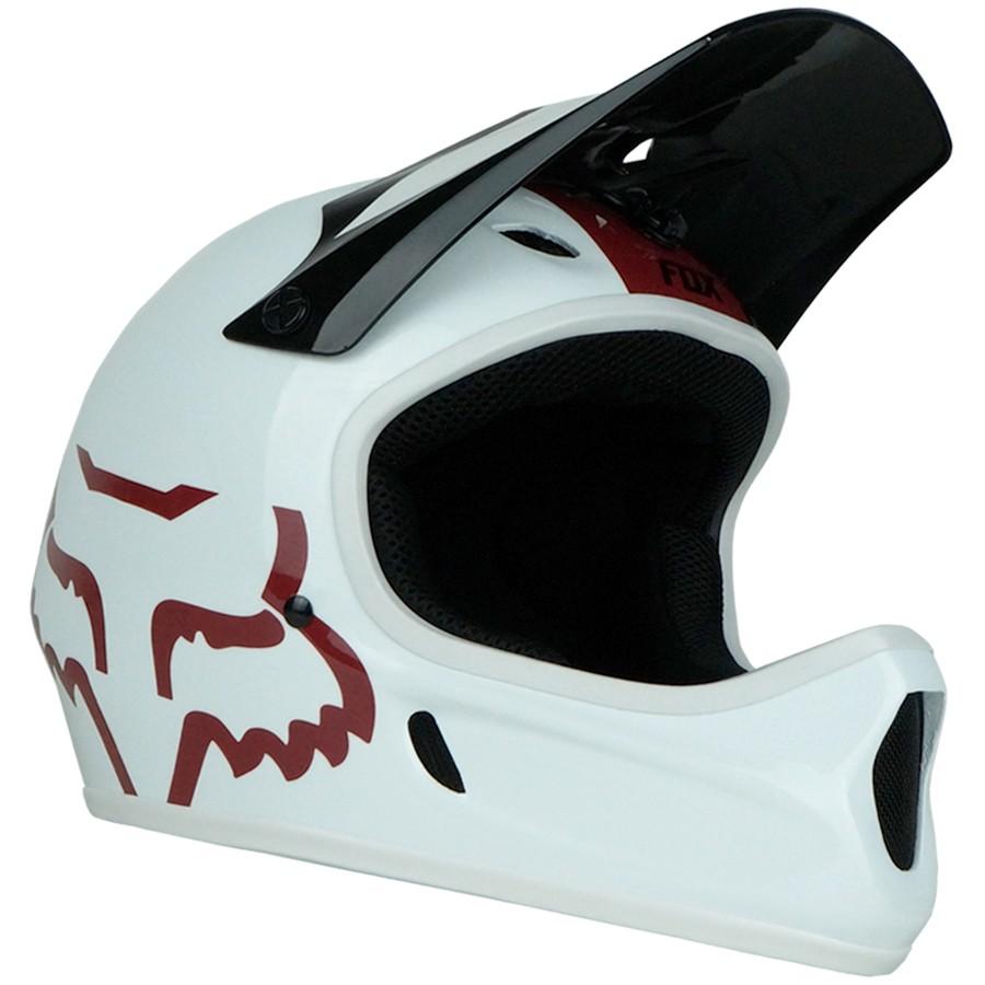 Capacete Downhill Fox Rampage | Branco e Vermelho