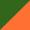 Verde escuro/Laranja