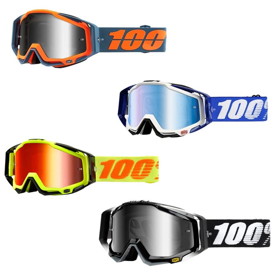 Óculos 100% Racecraft | Lente Espelhada + Clear + Tear-off